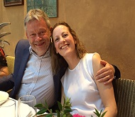 Retirement party, couple