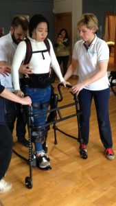Ed's client, Wiena, uses the latest Exoskeletal technology