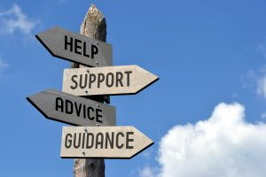Signpost to help, support, advice, guidance