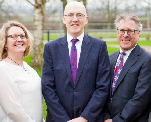 Barratts partners in garden Nottingham office