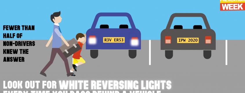 injury prevention week - car reversing lights awareness campaign